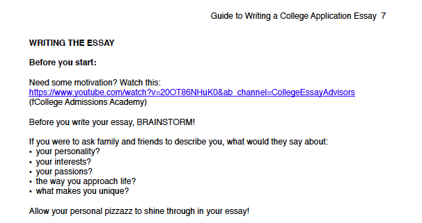 what to write in a college essay verification