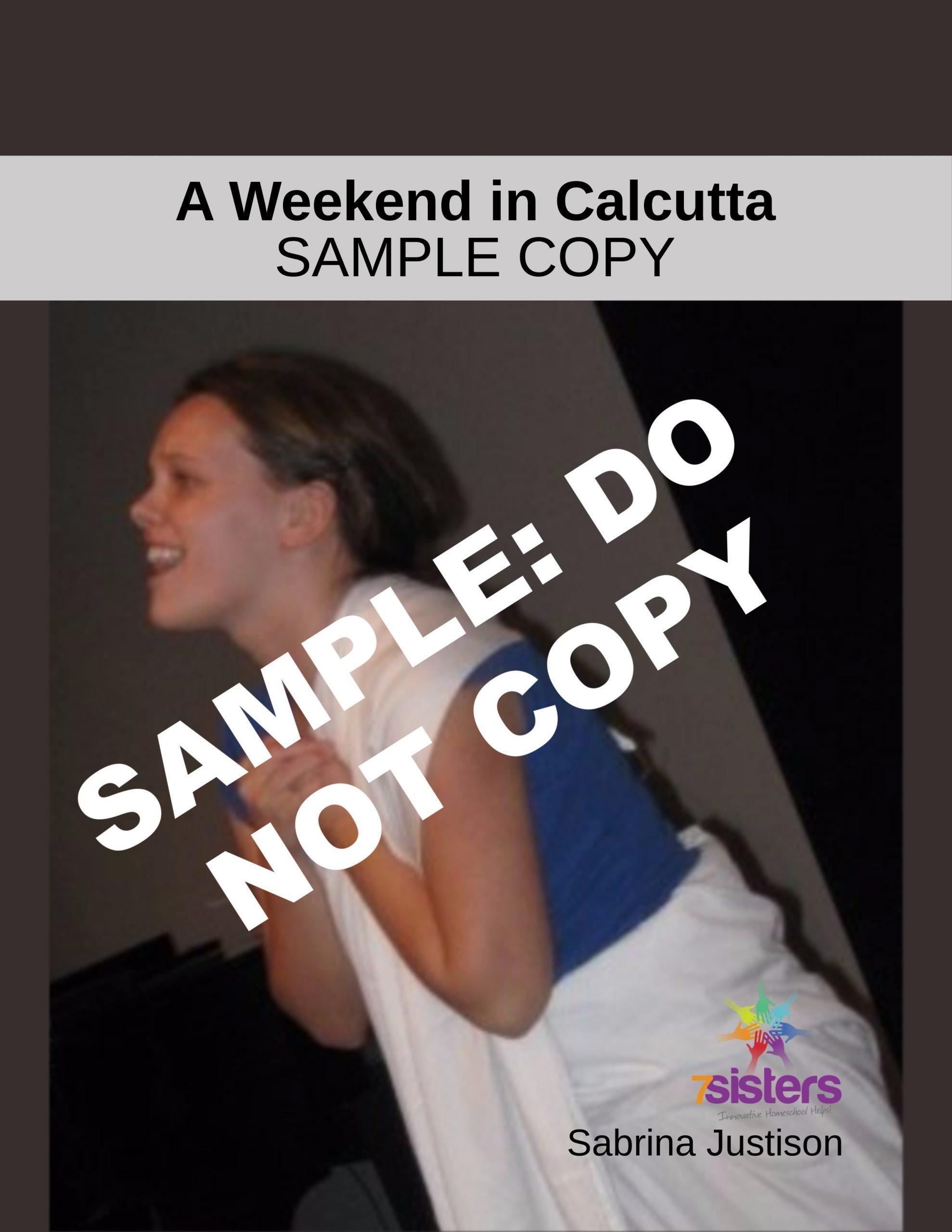 Sample Copy of Script: A Weekend in Calcutta