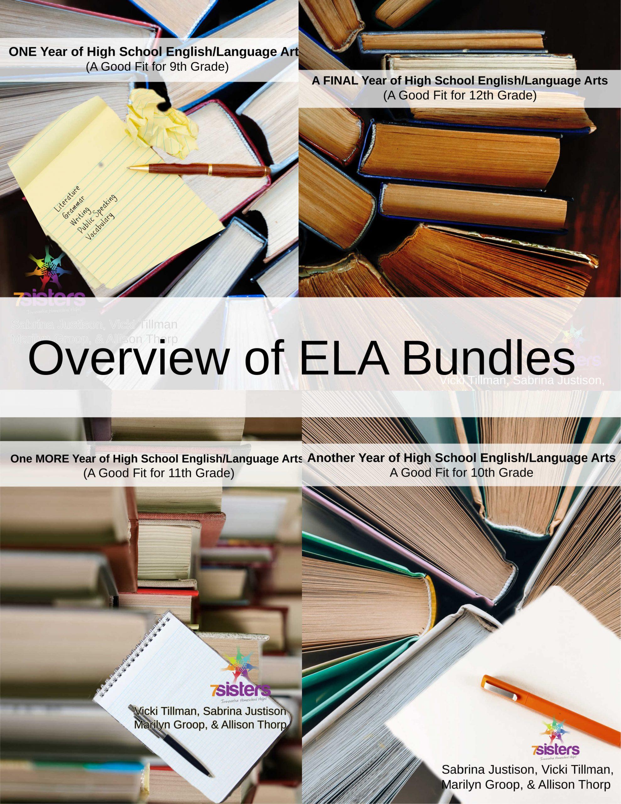Overview of ELA Bundles 7SistersHomeschool.com