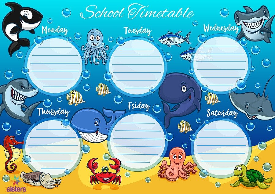Elementary School Schedule Freebie